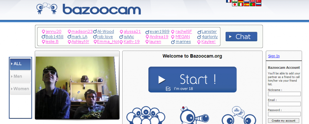 Bazoocam,what are good omegle alternatives