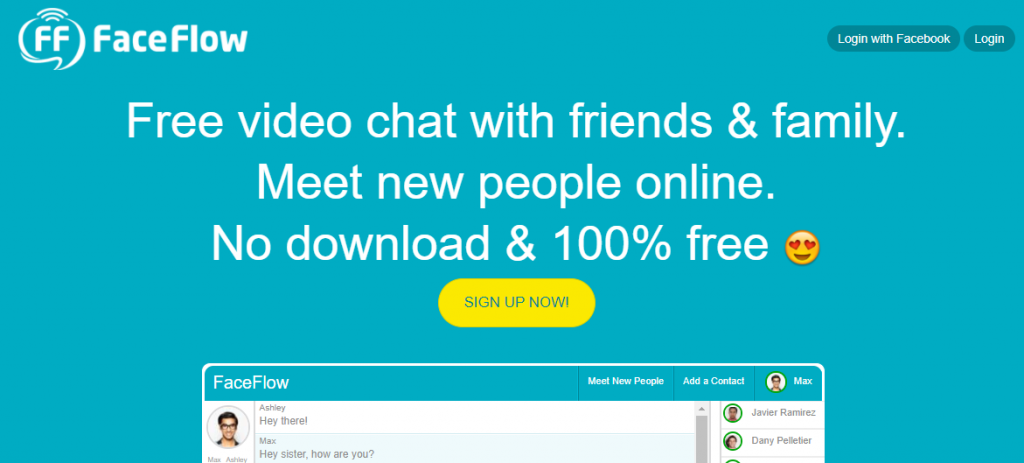 Faceflow,omegle chat alternatives
